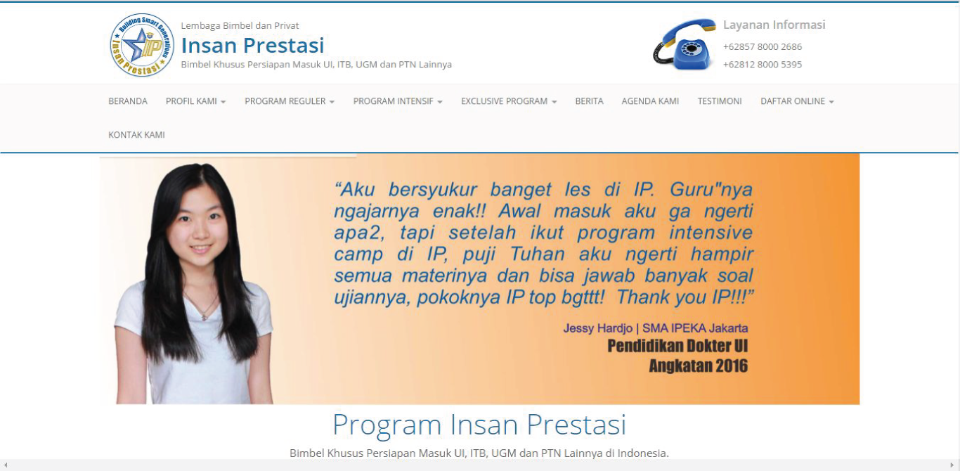 Website Bimbel Insan Prestasi